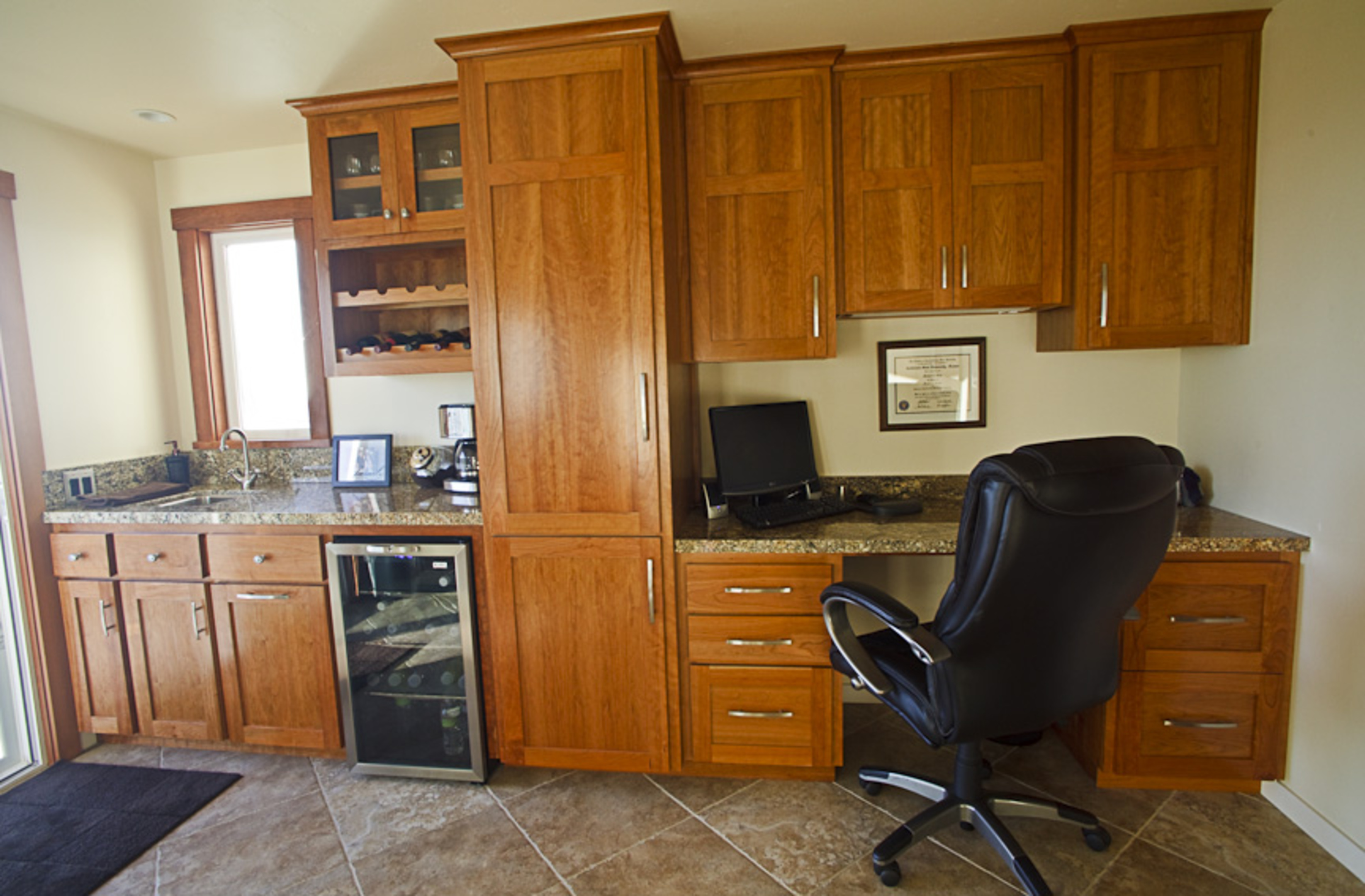 Affordable custom cabinets showroom for Office wet bar