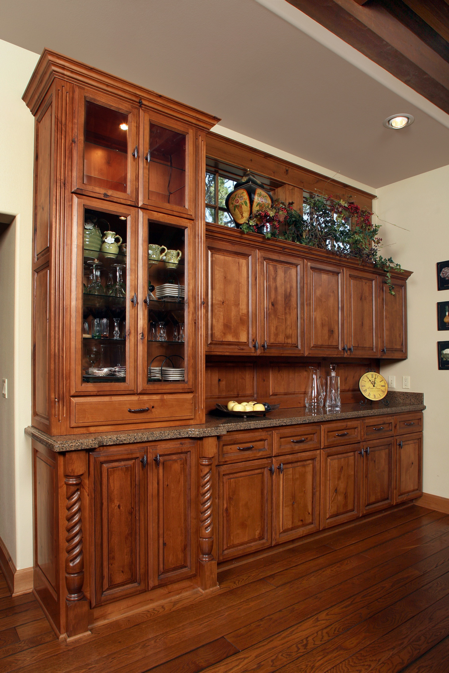 shaker la home n buffet wood hutch walnut furniture and things cherry gretna