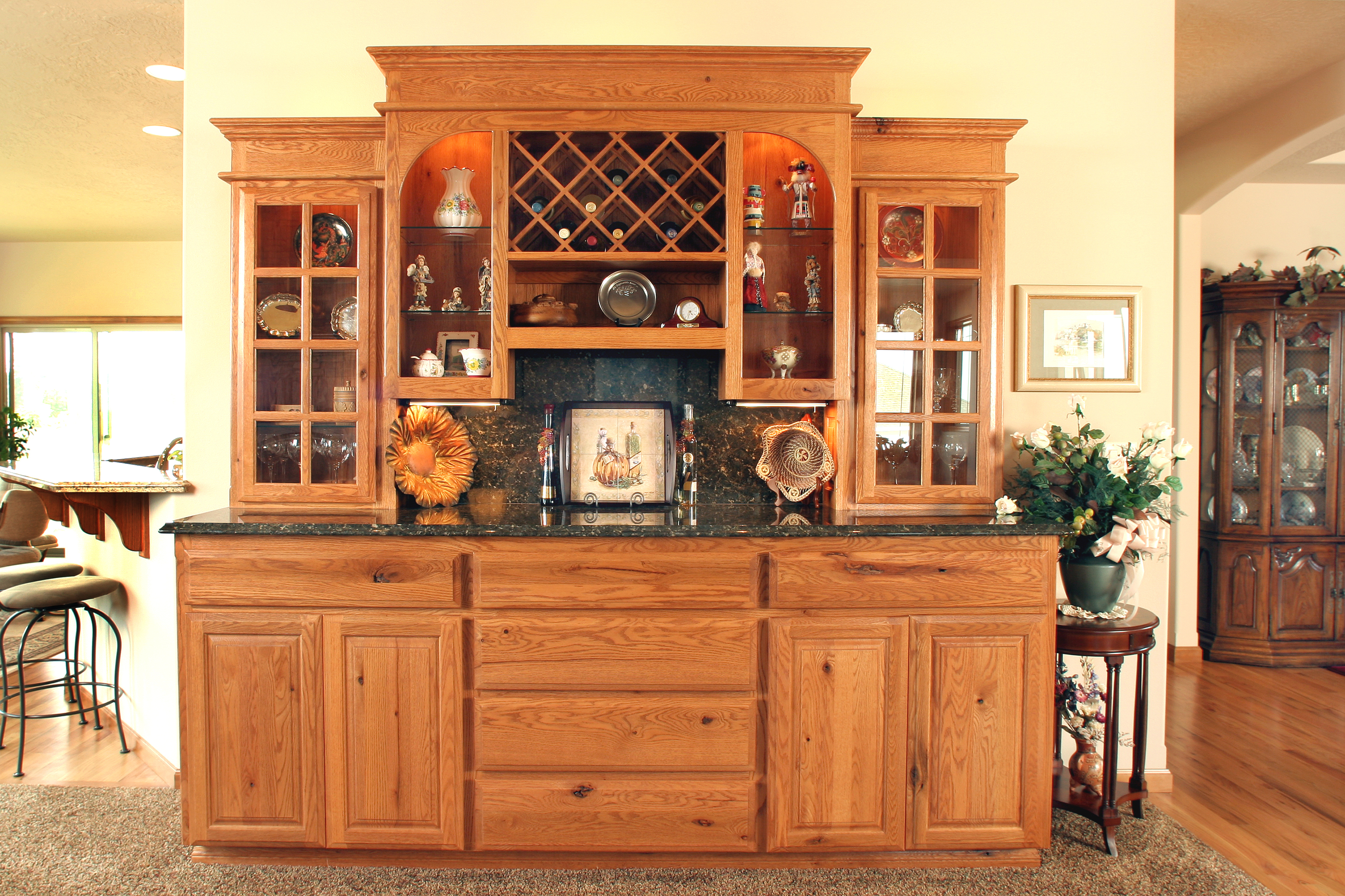 oak chunky display cabinet pine product china