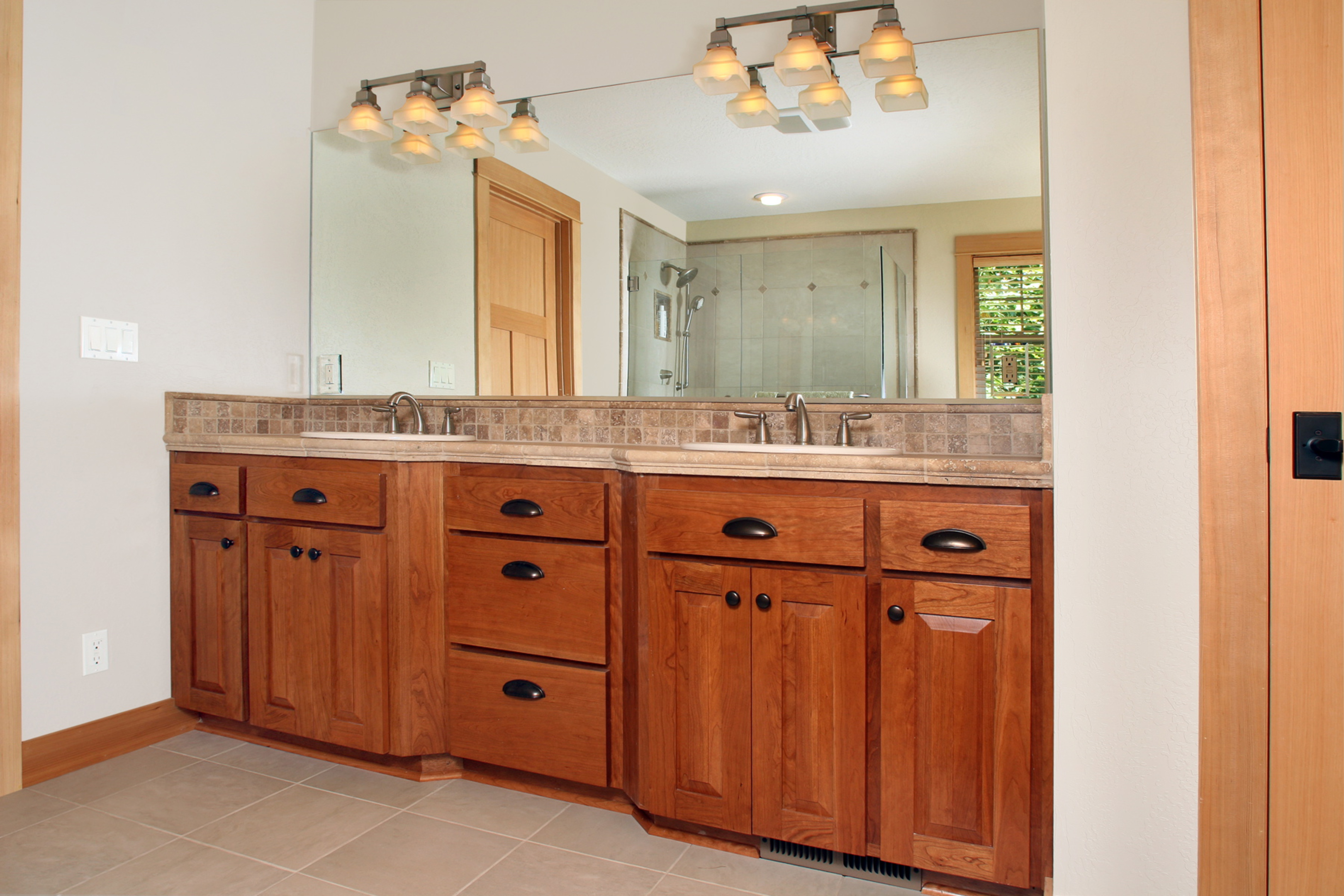 Craftsman Style Bathroom Wall Cabinets : Cherry bathroom wall cabinet atlanta styles deebonk