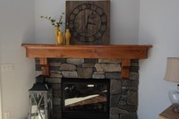 Thumb great room  craftsman style  knotty alder  medium color  corner mantel with  9 crown and corbels  fireplace