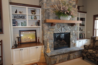 Thumb great room  traditional style  painted  recessed panel  bookcase  fireplace  mantel  entertainment  full overlay