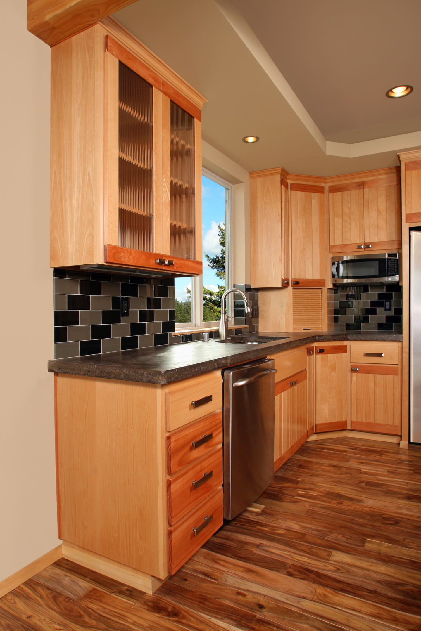 Affordable custom cabinets showroom for Corner kitchen cabinet