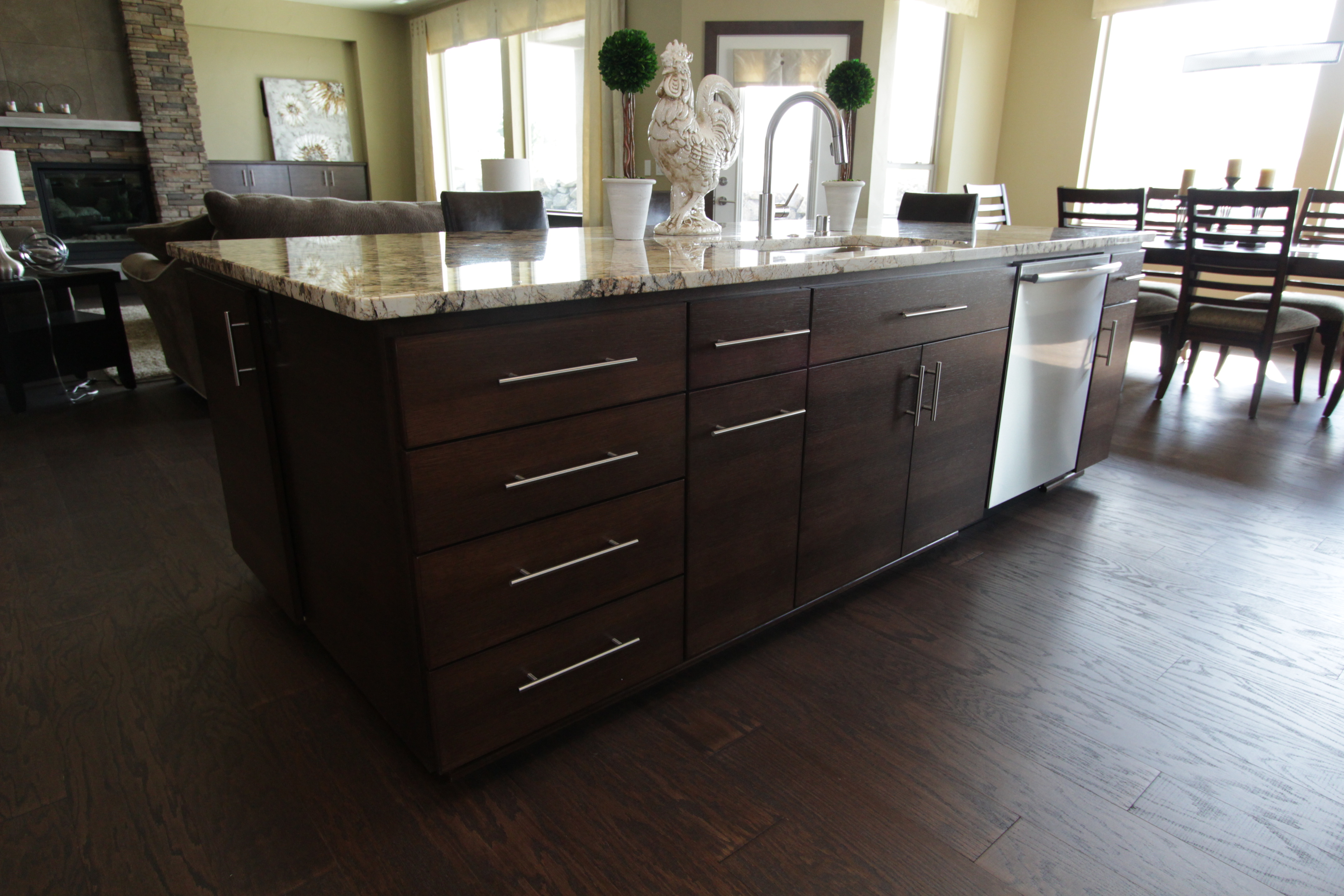 Thumb Kitchen Contemporary Style Quartersawn Walnut Banded Door Dark Color  Bank Of Drawers Horizontal Grain Full