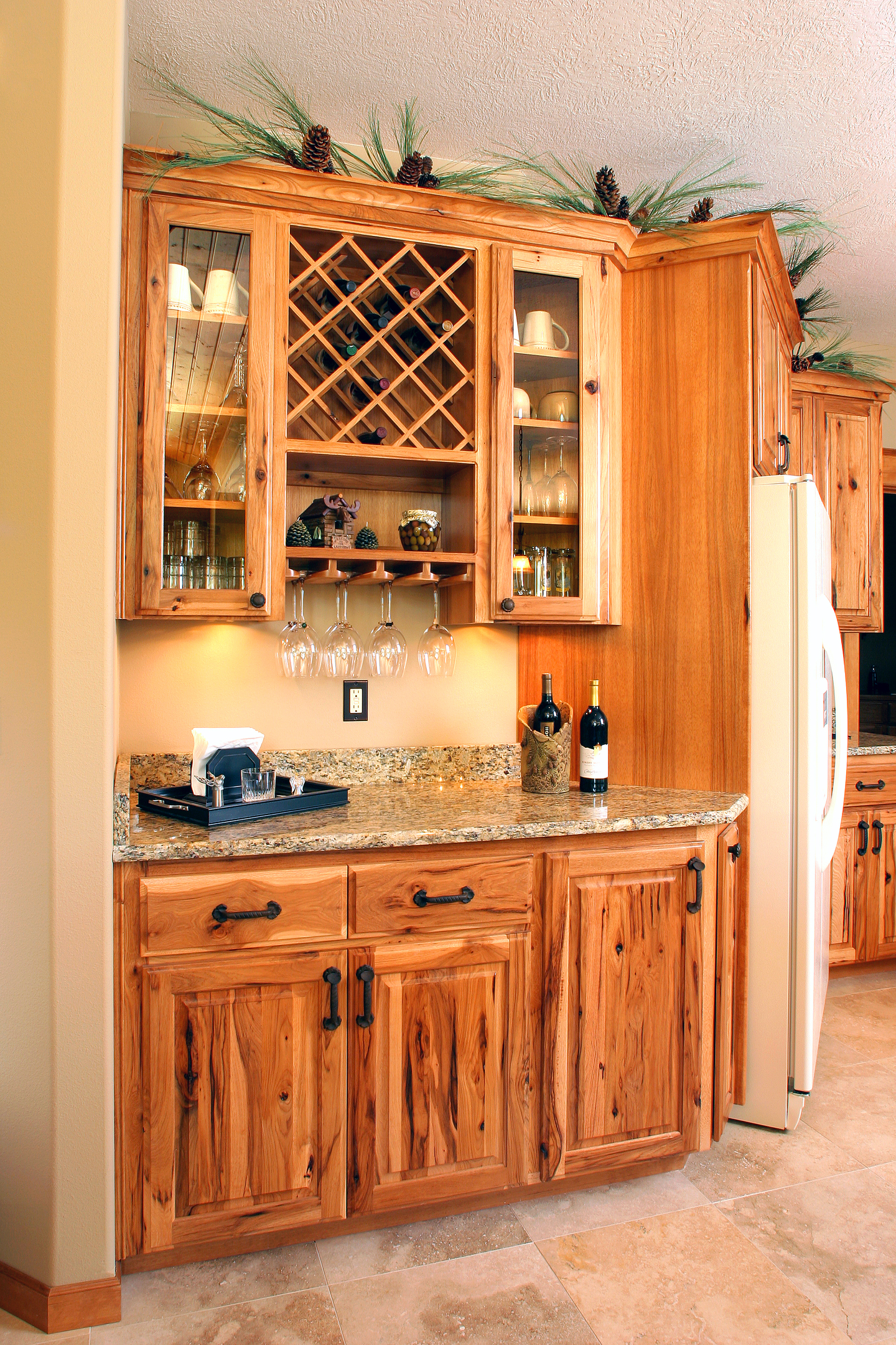 Kitchen Islands With Wine Rack Affordable Custom Cabinets Showroom