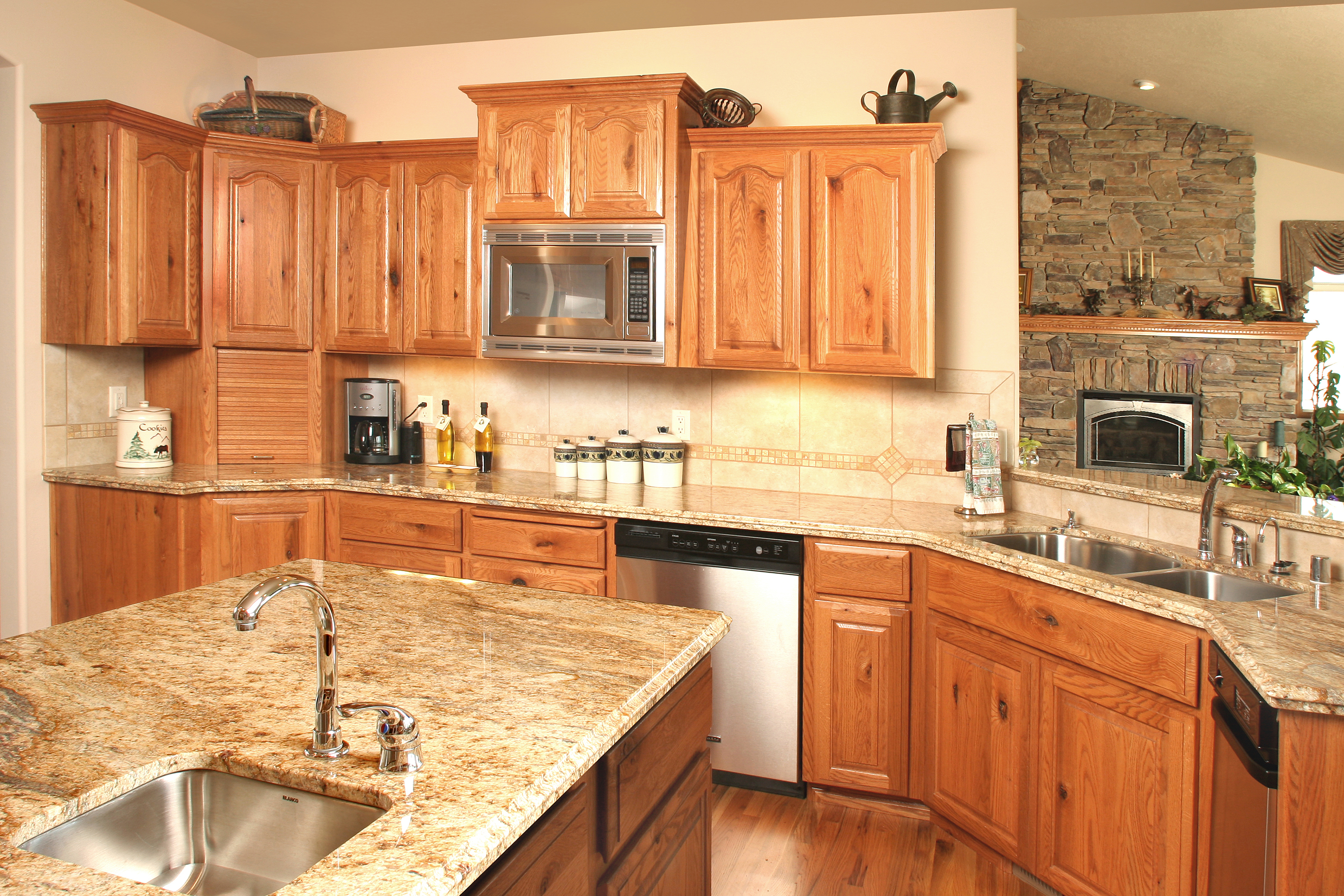 Staggered Height Kitchen Cabinets