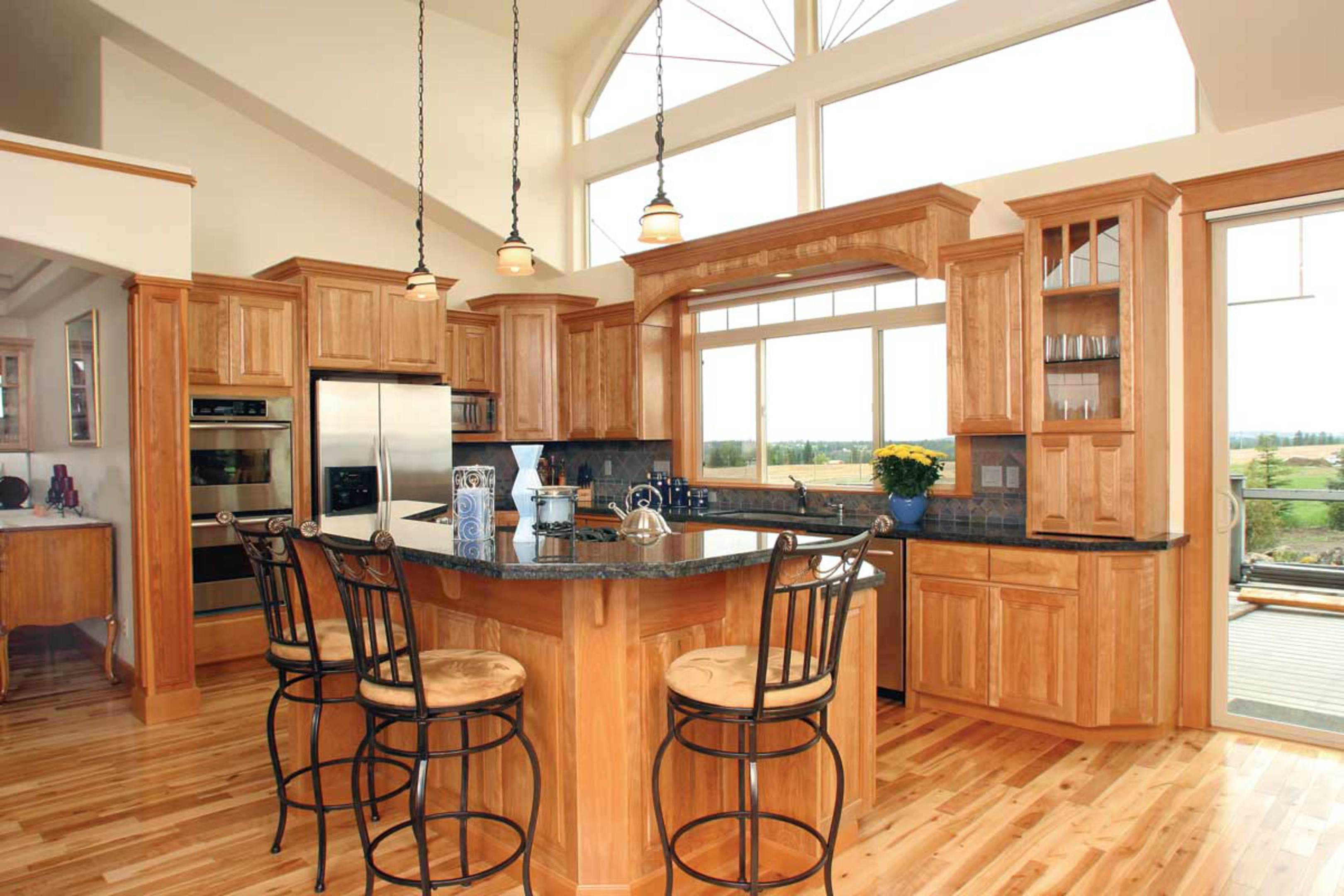 Affordable custom cabinets showroom for Garage style kitchen window
