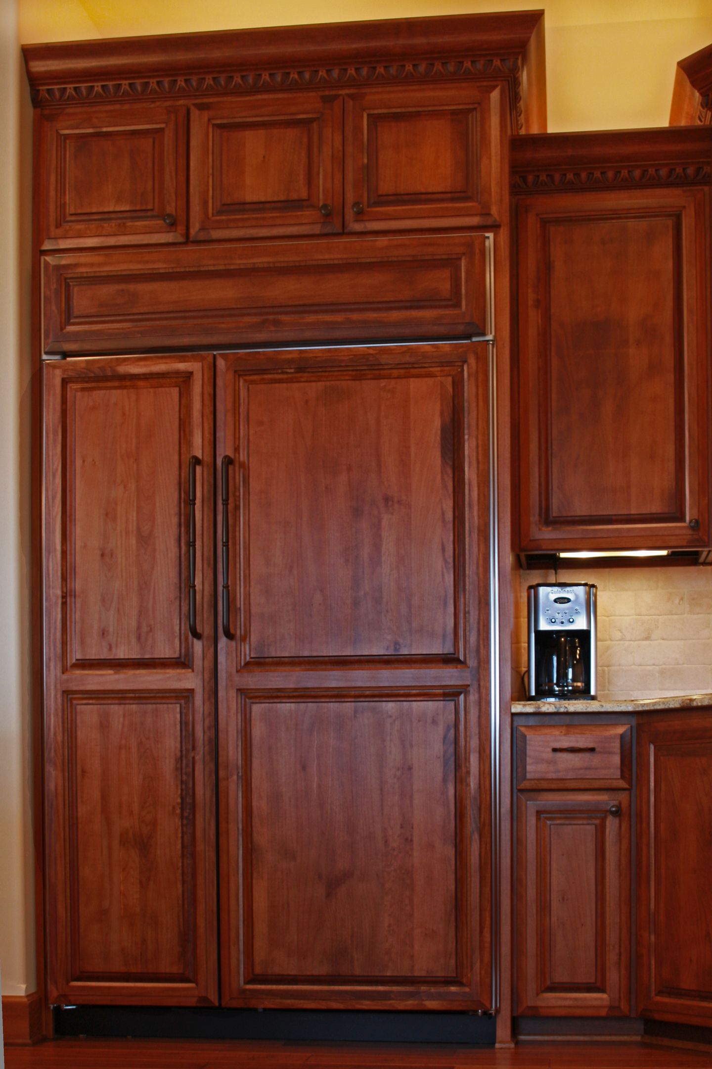 Wooden Refrigerator Cabinets ~ Affordable custom cabinets showroom