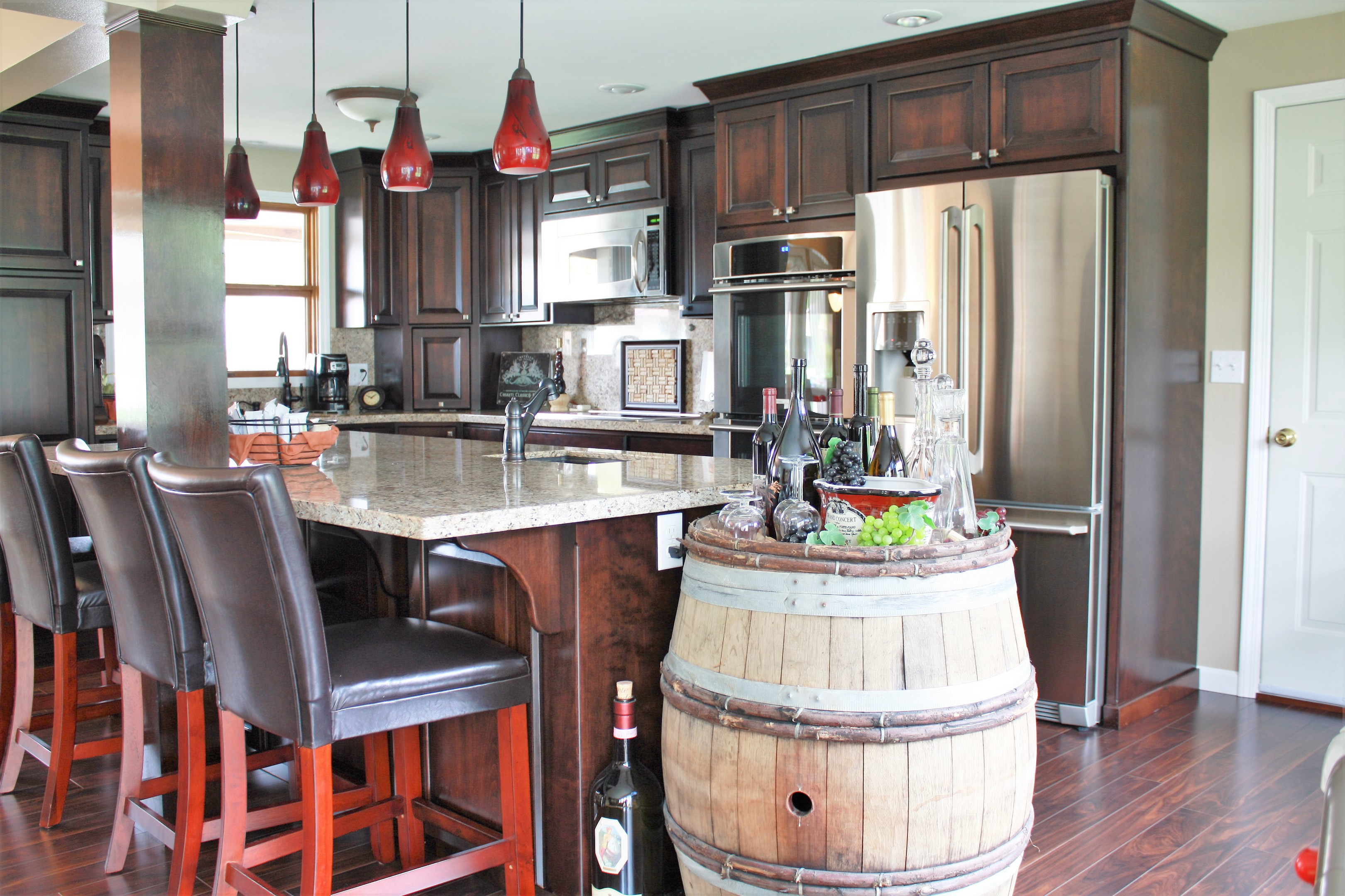 Affordable custom cabinets showroom for Pictures of western style kitchens